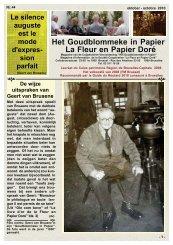 Magazine 44 oktober - octobre 2010 RED.pdf - Het goudblommeke ...