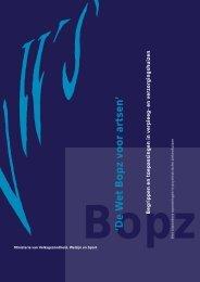 De Wet Bopz voor artsen - Innovatiekring Dementie
