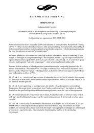 Politiets Efterforskningsstøtte Database - Retspolitisk Forening
