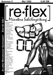 Nummer 5 Mai 1996 0,00 DM An allen ... - re*flex - Bürgernetz