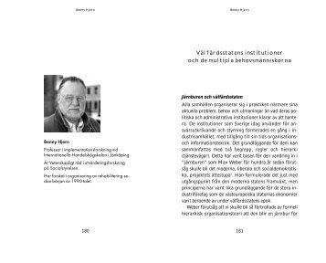 Välfärdsstatens institutioner och de multipla ... - Kramfors