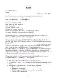 Avskrift. Polska Källinstitutet i Lund Trelleborg den 8/V. 1945 ... - Lu.se