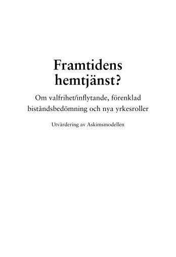 Framtidens hemtjänst? - Göteborgsregionens kommunalförbund