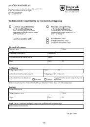 Ansökan godkännande av livsmedelsanläggning - Tingsryds kommun