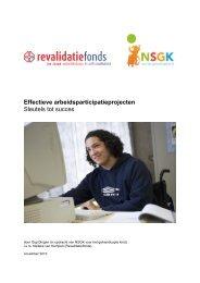 Effectieve arbeidsparticipatieprojecten - Nederlandse Stichting voor ...