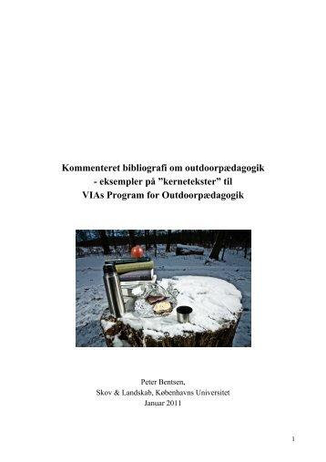 Kommenteret bibliografi om outdoorpædagogik ... - Udeskole.dk