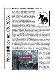 Nyhedsbrev Nyhedsbrev nr. 08. 2003.