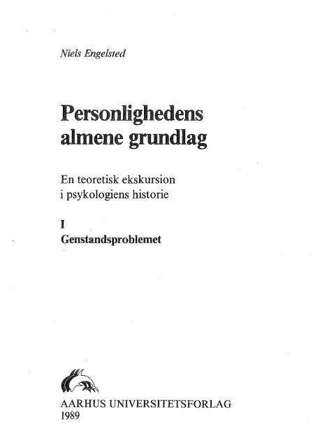 Personlighedens almene grundlag - Niels Engelsted