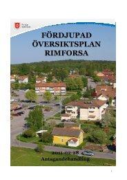 fördjupade översiktsplanen för Rimforsa - Kinda kommun