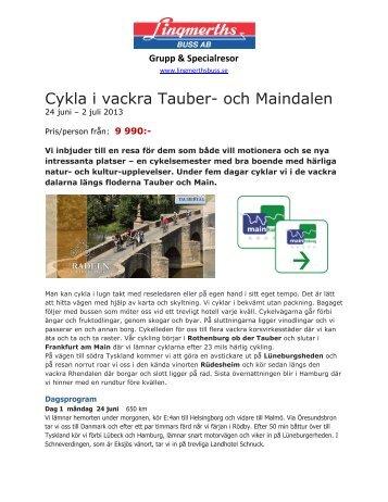 Cykla i vackra Tauber- och Maindalen - Lingmerths Buss
