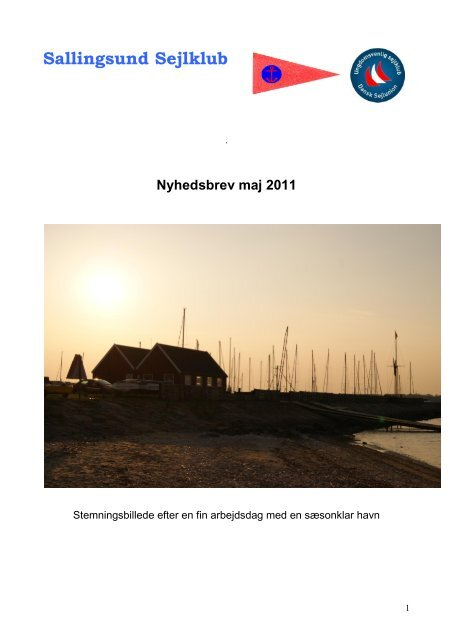 Nyhedsbrev maj 2011 - Sallingsund Sejlklub