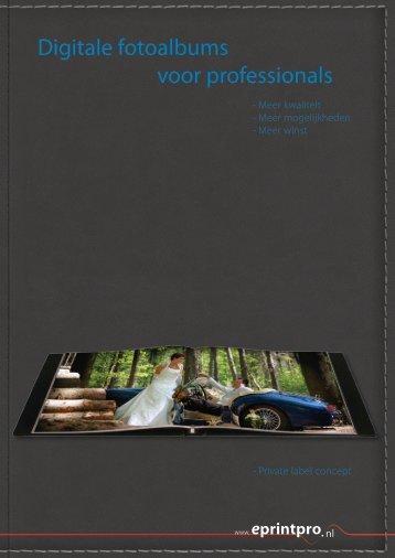 Digitale fotoalbums voor professionals - eprintpro
