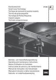 Kleinkrantechnik Small Crane Technology Techique de monorails et ...