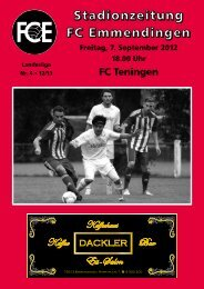 FCE-Stadionzeitung Nr. 4 - Regioamateur