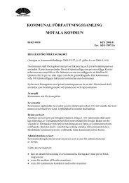 Reglemente för företagskort i Motala kommun
