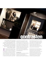 Spelen met contrasten - in: Lourens Magazine (nov. 2012)
