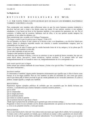 Mt 7,12; clase 32, La Regla de oro - Ediciones 72