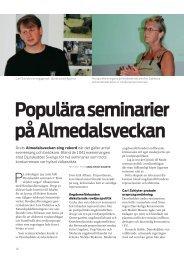 Populära seminarier på Almedalsveckan - Djurskyddet Sverige