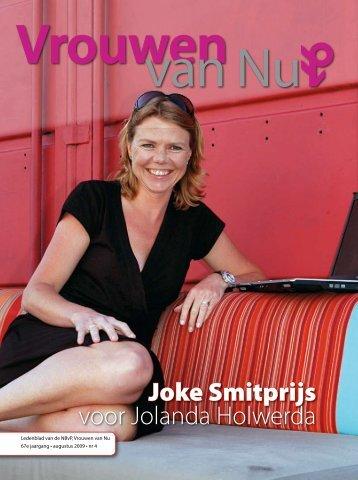 Joke Smitprijs voor Jolanda Holwerda