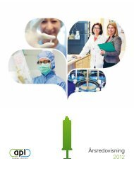 APL årsredovisning 2012 - The Swedish Life Science Industry Guide