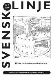 Nr 3 2009 TEMA: Nationalekonomins framtid - Svensk Linje