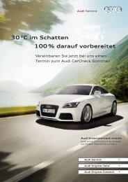30 °C im Schatten 100 % darauf vorbereitet - Autohaus Ostmann