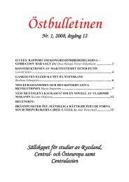 Bulletin nr 1, 2008-04-01 - Sällskapet för studier av Ryssland, Central