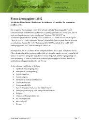 Foran årsoppgjøret 2012 - Norges Bondelag