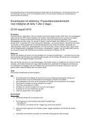 Kursinbjudan till utbildning i Presentationsteknik/retorik med ...