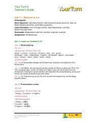 Your Turn 4 Teacher's Guide - klett-langenscheidt.de