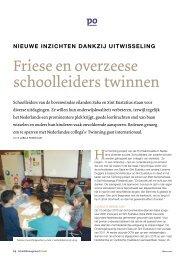 Friese en overzeese schoolleiders twinnen (SMT) | maart ... - PO-raad
