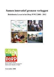 Samen innovatief grenzen verleggen Beleidsnota Leven in het Dorp ...