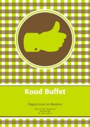 Koud Buffet - Slagerij Joost
