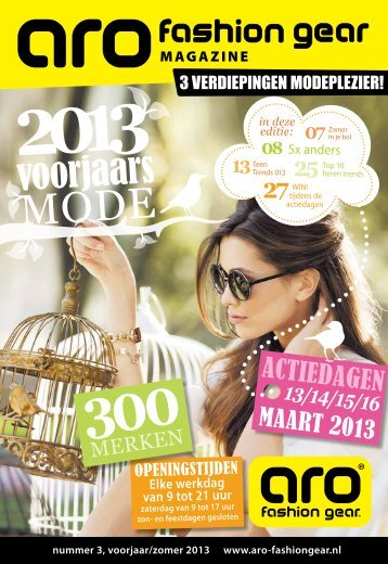 Klik hier om de modekrant te downloaden! - ARO Fashion Gear