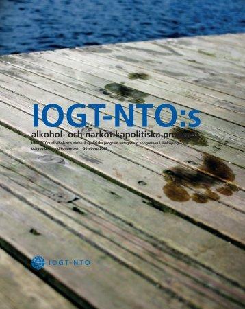 IOGT-NTO:s alkohol- och narkotikapolitiska program