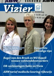 Vizier, nr. 3 - 2008 - Vakbond ABW