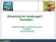 Afsætning for landbruget i fremtiden - Danmarks Landboungdom