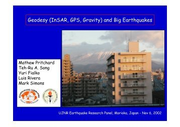 Geodesy (InSAR, GPS, Gravity) and Big Earthquakes