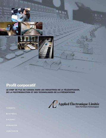 Prenez connaissance de notre brochure d'entreprise - Applied ...