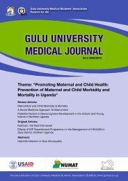 GULU UNIVERSITY MEDICAL JOURNAL