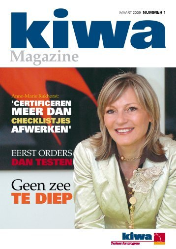 Kiwa Magazine maart 2009