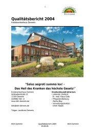 Qualitätsbericht 2004 - Kreiskrankenhaus Demmin