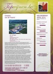 Chateau van de maand NIEUWSBRIEF APRIL 2010 - Wijndomein ...