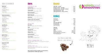 Ladda ner meny - Salads and Smoothies