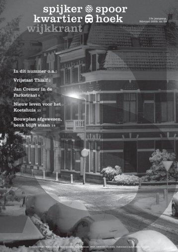 nummer 1 van 2009 - Spijkerkwartier/Spoorhoek