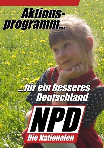 Aktionsprogramm für ein besseres Deutschland - NPD-Stuttgart