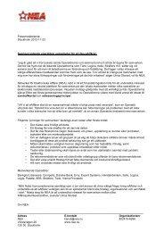 Adress E-kontakt Organisationsnr NEA kansli