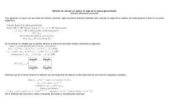 Métodos de calcular y/o aplicar la regla de la cadena generalizada ...