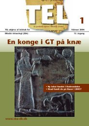 TEL 1/2004 gr¿n - Selskab for Bibelsk Arkæologi