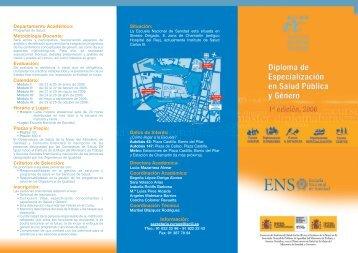 TRIPT.SALUD Y GENERO - Ministerio de Sanidad y Política Social